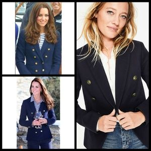 BODEN Addlestone Double Breasted Navy Blazer